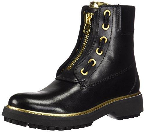 Geox Damen D ASHEELY Plus A Biker Boots, Schwarz (Black C9999), 39 EU