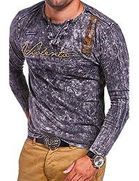 MT Styles style vintage T-shirt à manches longues VT-ADVENTURE R-0812