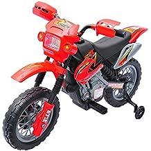Moto Electrica Infantil Bateria 6V Recargable Niños 5 Años Cargador y Ruedas Apoyo ...