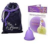 MeLuna Classic Copa Menstrual, Bola, Violeta, Talla Shorty S - 1 Unidad
