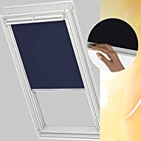 Original VELUX Blackout Blind for Roof Windows DKL 104 1100S in Blue GGL GHL GPL GXL 104 with channels in aluminium