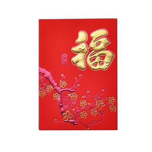 Art Beauty Rote Umschläge für Chinesisches Neujahrsfest, 38pcs rotes Paket / Lai sehen / Hong Bao für Frühlingsfest, Hochzeit, Abschluss, Geburtstag und Baby -