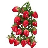 Baoblaze 5pcs Künstliches Obst Gemüse Kunstgemüse Dekogemüse Wohnzimmer Dekor -Erdbeere