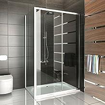 Cabina de ducha puerta corredera 120x 100/Alpen Berger/Mampara/einscheibensicherheitsglas/cabinas de ducha con cristal los arañazos