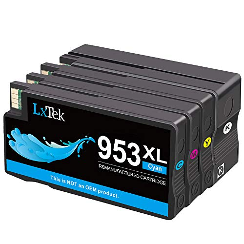 LxTek Remanufacturado Reemplazo para HP 953XL 953 XL Cartuchos de Tinta para HP OfficeJet Pro 8710 8715 8720 8730 8740 8725 8718 8719 8728 8210 8218 7740 7720 7730 (1Negro, 1Cian, 1Magenta, 1Amarillo)