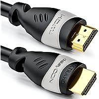 deleyCON 20m cable HDMI - compatible con HDMI 2.0a/b/1.4a - UHD / 4K / HDR / 3D / 1080p / 2160p / ARC - Alta velocidad con Ethernet - Negro / Gris