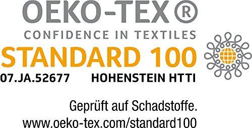 Hometex Premium Textiles Spannbettlaken Spannbetttuch bis 30 cm Steghöhe | Bettlaken aus 100% Baumwolle 145g/m² - MARKENQUALITÄT ÖKO-TEX Standard 100 | 90 x 190 cm bis 100 x 200 cm Apfel - 3