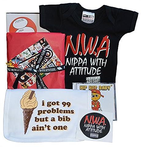Nwa Boîte Cadeau Nippa pour bébé avec Attitude Body, 99problèmes, Bavoir, HipHop Musique CD & vinyle
