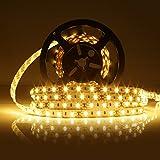 LEDMO® 5M LED Streifen Warmweiß 2700k,led stripes band lichtband 7500LM,led strip Leiste Licht led band Lauflichter SMD5630-300led led band DC12V(nicht inkl. Netzteil Adapter)