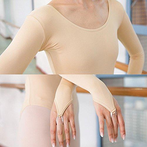 Qlan Baby Kids Girls Ginnastica Body Stretch Pizzo Floreale Danza Costume