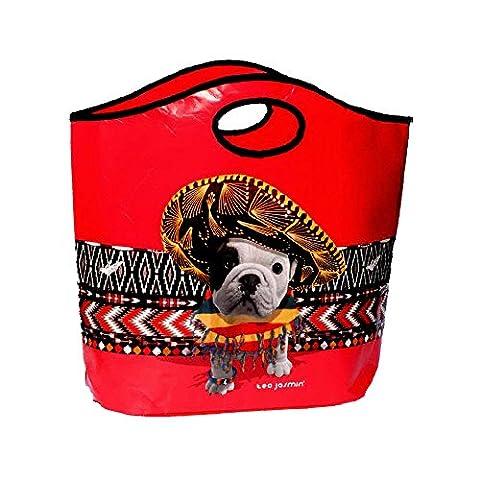 Teo Jasmin teoa9379Einkaufstasche mit Griff Kunststoff Teo Mexikanische 50x 45x 0,2cm (Jasmin Ein Griff)