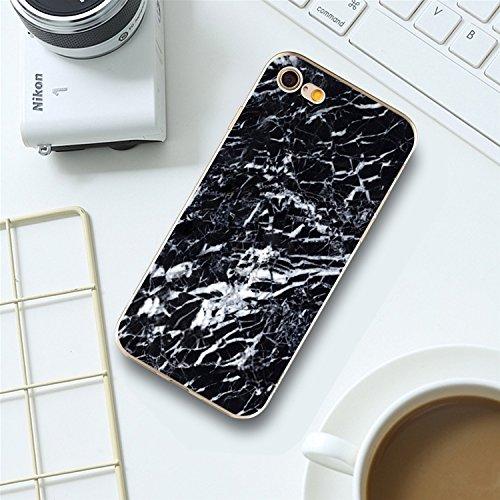 Coque Cover iPhone 6S Plus Souple Coque,MingKun Ultra-mince Motif Coréen Marbre TPU Bumper Case Cover Shell Coque pour iPhone 6S Plus Housse Etui pour iPhone 6 Plus 5.5 Pouces Motif Marbre Silicone TP Marbre Coquille-9