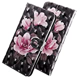 HMTECH for Huawei Honor 7A Case 3D Luxury Pink Flower PU