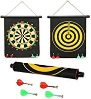 SHANBUYERS - Xplore the Unxplored High Magnetic Power with Double Faced Portable and Foldable Dart Game with 4