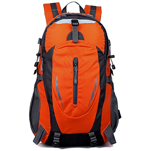 All'aperto Sport Escursionismo arrampicata Viaggio Le spalle Campeggio Impermeabile indossabile Nylon Zaino (verde) arancia