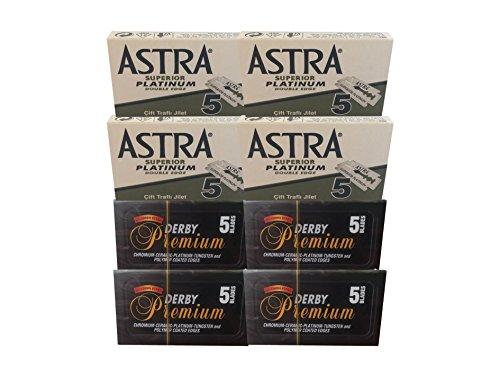 40 Rasierklingen Probe Set (Astra&Derby Premium)