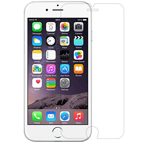 iPhone 6 / iPhone 6S Screen Protector, NEWC® Premium Tempered Glass Screen Protector (0,33mm HD Ultra transparent) - ANTI SCRATCH - WITHOUT AIR BUBBLES - ULTRA RESISTANT - 9H Hardness and Easy Bubble-Free Installation for iPhone 6 / iPhone 6S