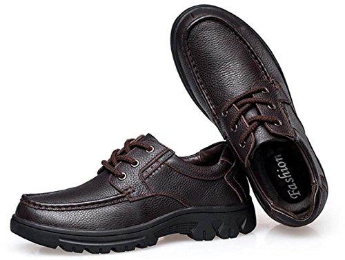 Uomini Scarpe Casual Scarpe Di Cuoio Inglesi Scarpe Singole Affari Scarpe Di Pizzo Brown