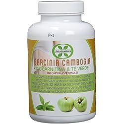 Garcinia cambogia con L-carnitina y té verde para reducir el apetito y acelerar el metabolismo LINEA COMPLEX 180 capsulas – suplemento alimenticio con potentes propiedades adelgazantes