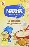 NESTLÉ Papilla 8 cereales con Galleta María - Alimento para Bebés - Paquete de 6 x 600 g - Total: 3.6 kg