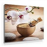 Feng Shui Bild B150, 1 Teil 50x50cm Leinwand auf Holzrahmen aufgespannt, FineArt Print, UV-stabil und wasserfest, Kunstdruck für Büro oder Wohnzimmer, Deko Bild