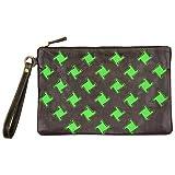 Goldmarie Clutch Tasche Leder Muster Handtasche mit Henkel Ledertasche bunt mit Reißverschluss...