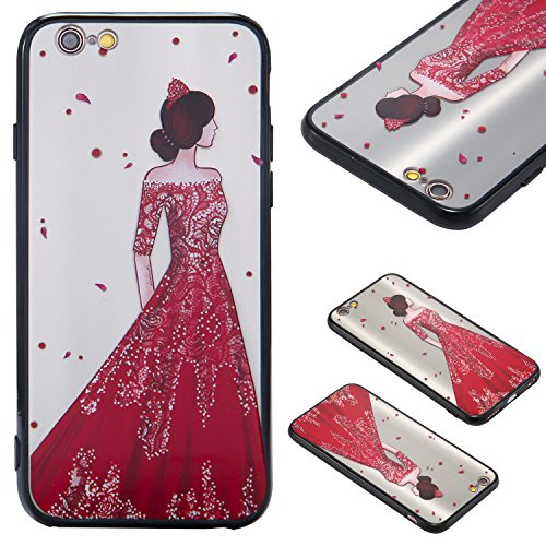 Nancen Hülle Apple iPhone 6 Plus / 6S Plus (5,5 Zoll) . Girl cover TPU Case Handyhülle Backcover Girl cover 3