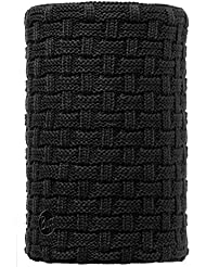 Original Buff Knitted & Polar Neckwarmer Airon, Braga De Cuello Para Adulto, Negro (Airon Black/Black), Adulto/Talla Unica
