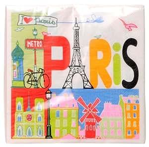 Fox trot 6604pari 20 tovaglioli di carta decorati paris - Tovaglioli di carta decorati ...