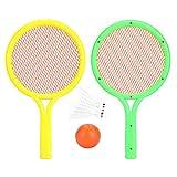 Dilwe Set Racchetta da Tennis, Racchetta da Badminton Leggera e sicura Set Racchetta da Gioco con Racchetta e Badminton per Esterno
