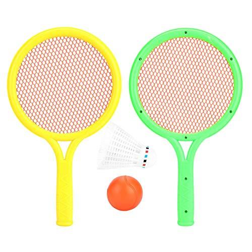 Dilwe Juego Raquetas Tenis Bádminton Seguro Liviano