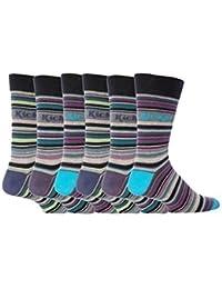 Kickers - 6 paires de chaussettes rayées hommes de coton, 39-45 eur, K36, Belleville