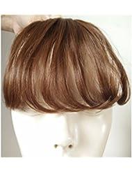 LUFA Womens Clip à l'avant Neat Bangs Straight Bangs Extension de cheveux Postiches