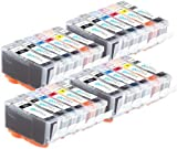 4 Compatible Sets of 6 Canon PGI-525 & CLI-526 Printer Ink Cartridges (24 Inks) - Black / Cyan / Magenta / Yellow / Grey for Canon Pixma MG6150, MG6150, MG6250, MG8150, MG8250, MG8220