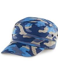 Result headwear-urban camo bonnet indigo camouflage