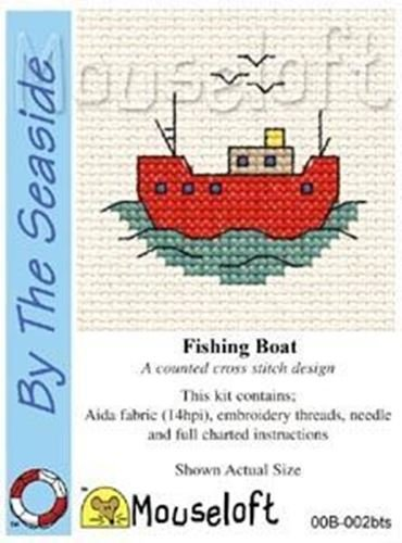 Mouseloft Mini Cross Stitch Kit - Fishing Boat, By the Seaside Collection -