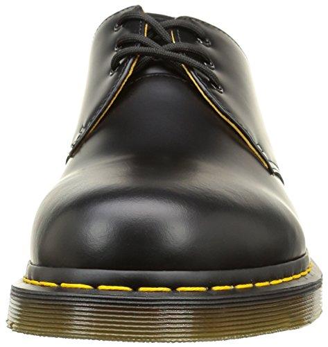 Dr.Martens Mens 1461 3 Eyelet Smooth Leather Shoes Noir (Black)