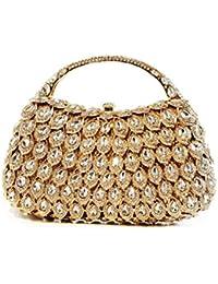 1444481817f2f Lovely Rabbit Braut Hochzeit Kupplung Gold Strass Hohl Hand Clutch  Geldbörse Prom Party Hochzeit Handtasche für