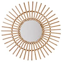 Atmosphera SUN Wall Mirror in Braided Frame, Ø 58 cm