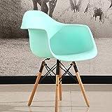 Tabourets Chaise de salle à manger Eiffel en plastique, bois, mobilier moderne et contemporain pour le salon, le bureau, la terrasse, le bureau, la cuisine, se prélasser, cafétéria Stool...