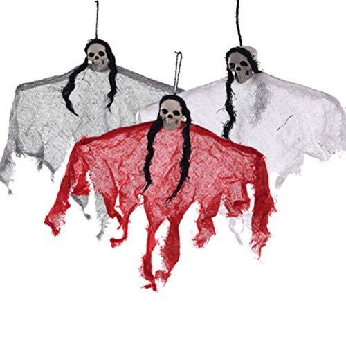 n Skull Ghost Halloween Spukhaus hängende Dekoration ()