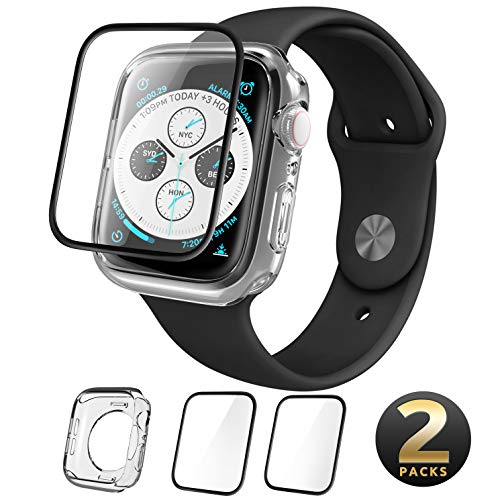 i-Blason Pack of TPU Clear Case and 2 Screen Protector for Apple iWatch Series 4 2018 (44 mm)