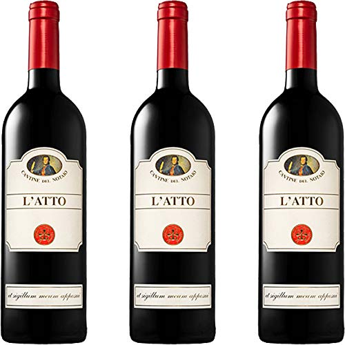 Aglianico del Vulture L'Atto | Cantine del Notaio | Vino Rosso Basilicata IGT | Confezione 3 Bottiglie 75 Cl | Idea Regalo