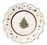 Villeroy & Boch Toy's Delight Frühstücksteller, 24 cm, Premium Porzellan, Weiß/Rot