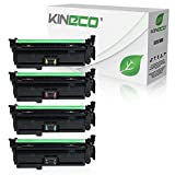 4 Kineco Toner kompatibel zu HP LaserJet Enterprise 500 575 C F 570 DN N XH Pro 500 Color MFP M 570 DN DW Color Flow MFP M 575 C CE400X CE401A CE402A CE403A Schwarz 11.000 Seiten Color je 5.500 Seiten