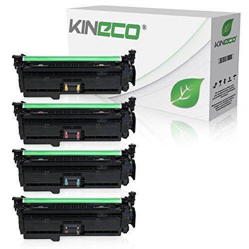 4 Kineco Toner kompatibel zu HP LaserJet Enterprise 500 575 C F 570 DN N XH Pro 500 Color MFP M 570 DN DW Color Flow MFP M 575 C CE400X CE401A CE402A CE403A Schwarz 11.000 Seiten Color je 5.500 Seiten -