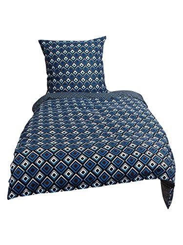 Sternenzelt 623174 Liro Bettwäscheset Baumwolle, 80 x 80/135 x 200 cm, blau