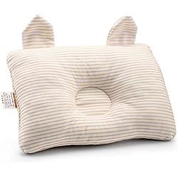 Affe Baby Schlafkissen Neugeborene Baumwolle Babykissen Verhindern Flache Kopf (Gelb)