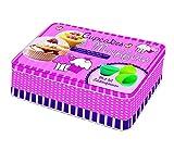 Cupcakes & Muffins: Deko-Box aus Metall mit 50 farbigen Rezeptkarten