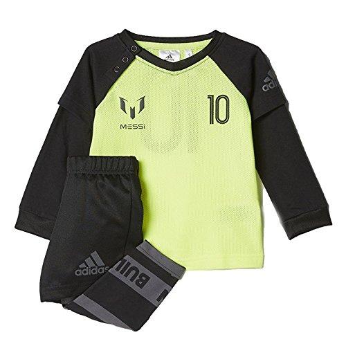 adidas i Messi Jog, Tuta Unisex Bambini, Giallo (Amasol/Tinley/Nero/Nocmét), 92